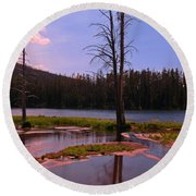 Simple Beauty Of Yellowstone Round Beach Towel