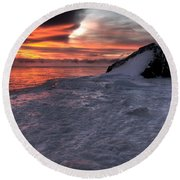 Simple Equilibrium Round Beach Towel