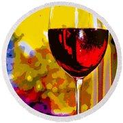 Wine - Simple Life Round Beach Towel