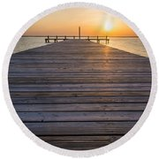 Simple Setting Round Beach Towel