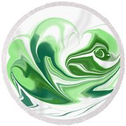 Simplicity In Green Round Beach Towel