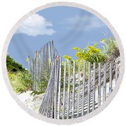 Simplified View Of Coastal Dune Round Beach Towel