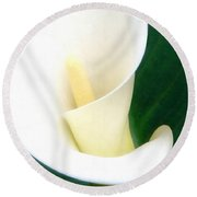 Simply Calla Lily Round Beach Towel