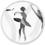 Simply Dancing 4 Round Beach Towel