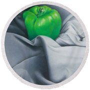 Simply Green Round Beach Towel