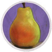 Simply Pear Round Beach Towel