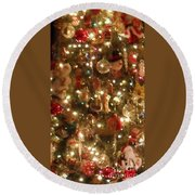 Simply Santa Round Beach Towel by Laurie Lundquist