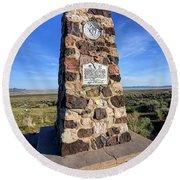 Simpson Springs Pony Express Station Monument - Utah Round Beach Towel