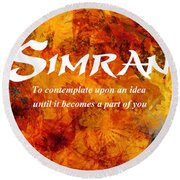 Simran Round Beach Towel