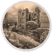 Sinclair Castle Scotland - 2 Round Beach Towel
