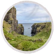Sinclair Castle Scotland - 5 Round Beach Towel