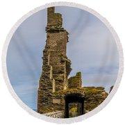 Sinclair Castle Scotland - 6 Round Beach Towel