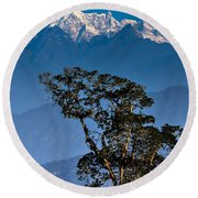 Singalila Ridge Sikkim Round Beach Towel