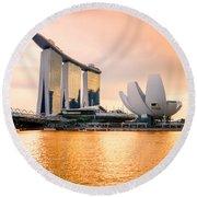 Singapore - Marina Bay Sand Round Beach Towel