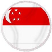 Singapore Flag Round Beach Towel