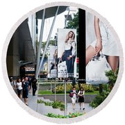 Singapore Orchard Road 02 Round Beach Towel