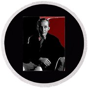 Singer And Actor Bing Crosby Circa 1934-2014 Round Beach Towel
