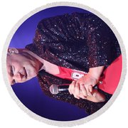 Singer Andy  Bell Round Beach Towel