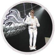 Singer Justin Bieber Round Beach Towel