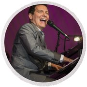 Singer Michael Feinstein Performing With The Pasadena Pops. Round Beach Towel