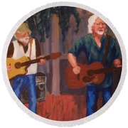 Singing For The Angels Round Beach Towel