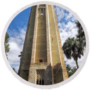 Singing Tower House Side View Round Beach Towel