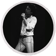 Singing With His Heart And Soul Round Beach Towel