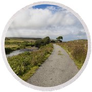 Single Track Road Round Beach Towel