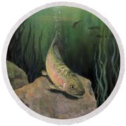 Single Trout Round Beach Towel