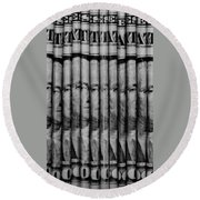 Singles In Black And White Round Beach Towel