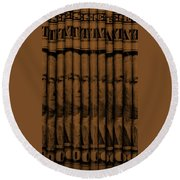 Singles In Copper Round Beach Towel