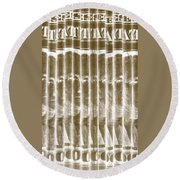 Singles In Gold Round Beach Towel