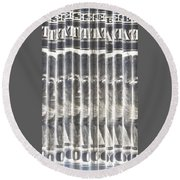 Singles In Silver Round Beach Towel