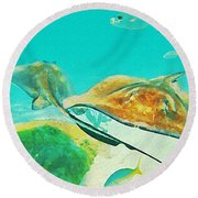 Singray City Cayman Islands Two Round Beach Towel