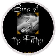 Sins Of The Father Book Cover Round Beach Towel