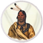 Sioux Chief 1883 Round Beach Towel