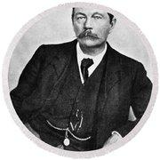 Sir Arthur Conan Doyle (1859-1930) Round Beach Towel