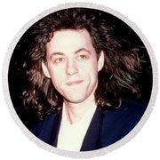 Sir Bob Geldorf 1989 Round Beach Towel