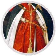 Sir Robert Devereux (1566-1601) Round Beach Towel