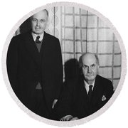 Sirs William And Lawrence Bragg Round Beach Towel