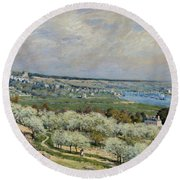 Sisley Saint-germain, 1875 Round Beach Towel