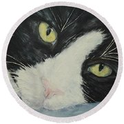 Sissi The Cat 1 Round Beach Towel