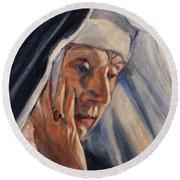 Sister Ann Round Beach Towel