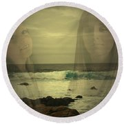 Sisters Forever Round Beach Towel