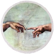 Sistine Chapel Round Beach Towel by SPL and Photo Researchers
