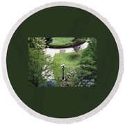 Sitting Area Round Beach Towel