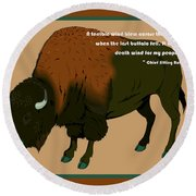 Sitting Bull Buffalo Round Beach Towel