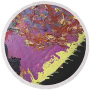 Sitting On The Edge Of The Earth Round Beach Towel