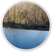 Situate Dam Round Beach Towel