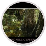 Six Mile Cypress Fort Myers Florida Round Beach Towel